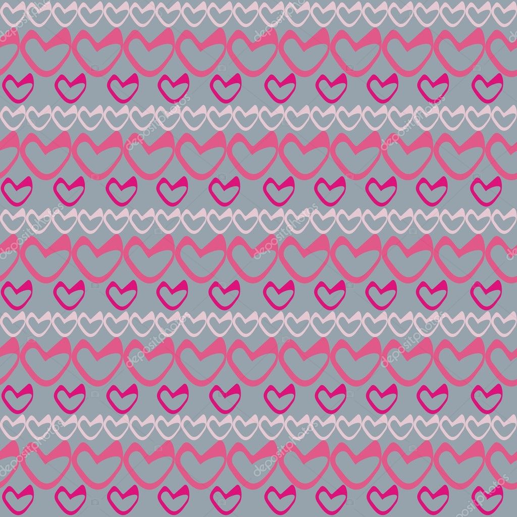 Romantic seamless pattern with hearts — Stock Vector #2222662