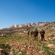 Stock Photo: Israeli soldiers patrol in palestiniv