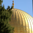 Gold Dome of the rock — Stock Photo