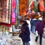 A buyer in Jerusalem east market — Stock Photo