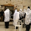 Jewish prayers new wailing wall — Stock Photo