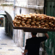 Bread seller in Jerusalem - Stock Photo