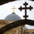 Jerusalem churches - crosses — Stock Photo