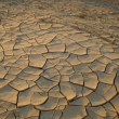Stock Photo: Dry soil - ecology disaster