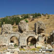 Ancient ruins in Ephesus - Stock Photo