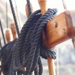 Постер, плакат: Ship tower crows nest ropes
