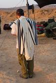 Jewish praying slodiers — Stock Photo