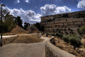 Jerusalem temple mount panorama — Stock Photo