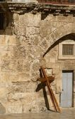 A cross in Jerusalem — Stock Photo