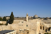 Al Aqsa mosque and minaret - islam in a — Stock Photo