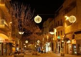 Jerusalem Ben Iehuda stree at night — Stock Photo
