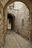 A street in the old city jerusalem — Stockfoto
