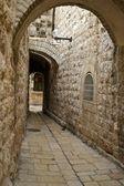 Een straat in de oude stad jeruzalem — Stockfoto