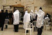 Jewish prayers new wailing wall — Stock Photo