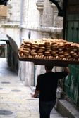 Bread seller in Jerusalem — Stock Photo