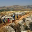Galilee landscape - hiking with children — Stock Photo