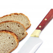 Stock Photo: Bread slices and knife