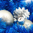 Stock Photo: Decorations and fir cone