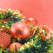 Different christmas decorations — Stock Photo