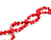 A coral beads isolated — Stock Photo