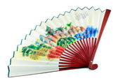 A japanese fan isolated — Stock Photo