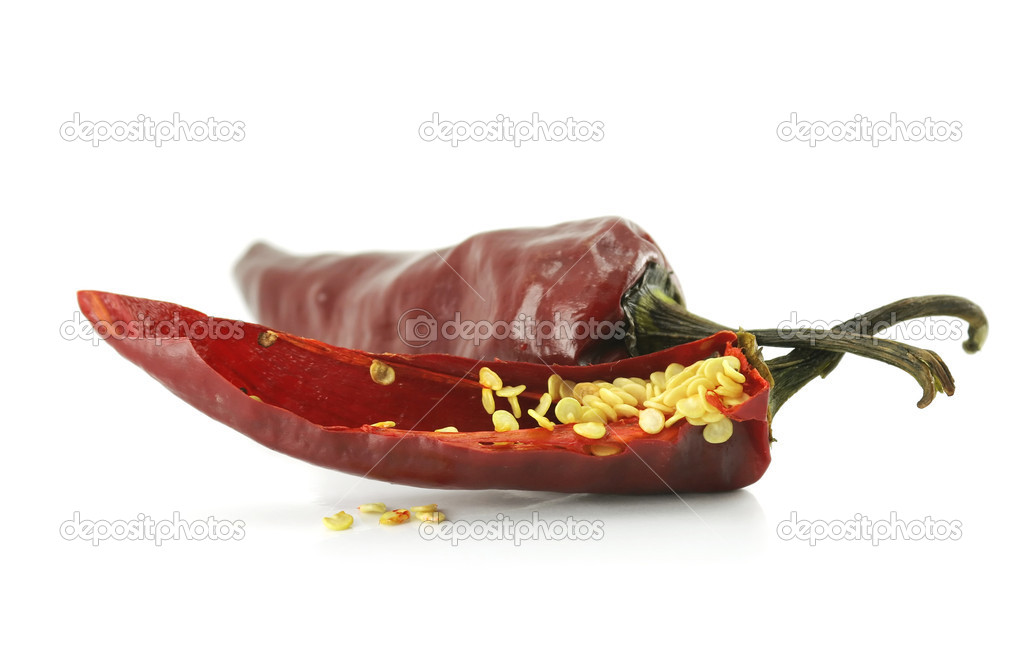 Hot pepper isolated on a white background  Foto Stock #1281794