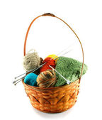 Clewes in a basket isolated — Stock Photo