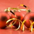 Three christmas toys — Stock Photo