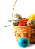 A basket with clewes isolated — Stock Photo