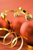 Three christmas toys — Stock Photo