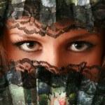 Beautiful eyes of a fan — Stock Photo