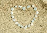 Serce z kamienia — Zdjęcie stockowe