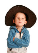 Surprise child in a hat — Stock Photo