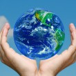 Earth in Hands — Stockfoto