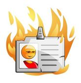 Vypálil vektor odznak — Stock vektor