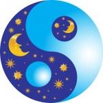 Постер, плакат: Yin and yang night and day