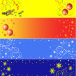 8 Christmas banners - Stock Vector