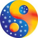 Постер, плакат: Yin and yang warm and cold