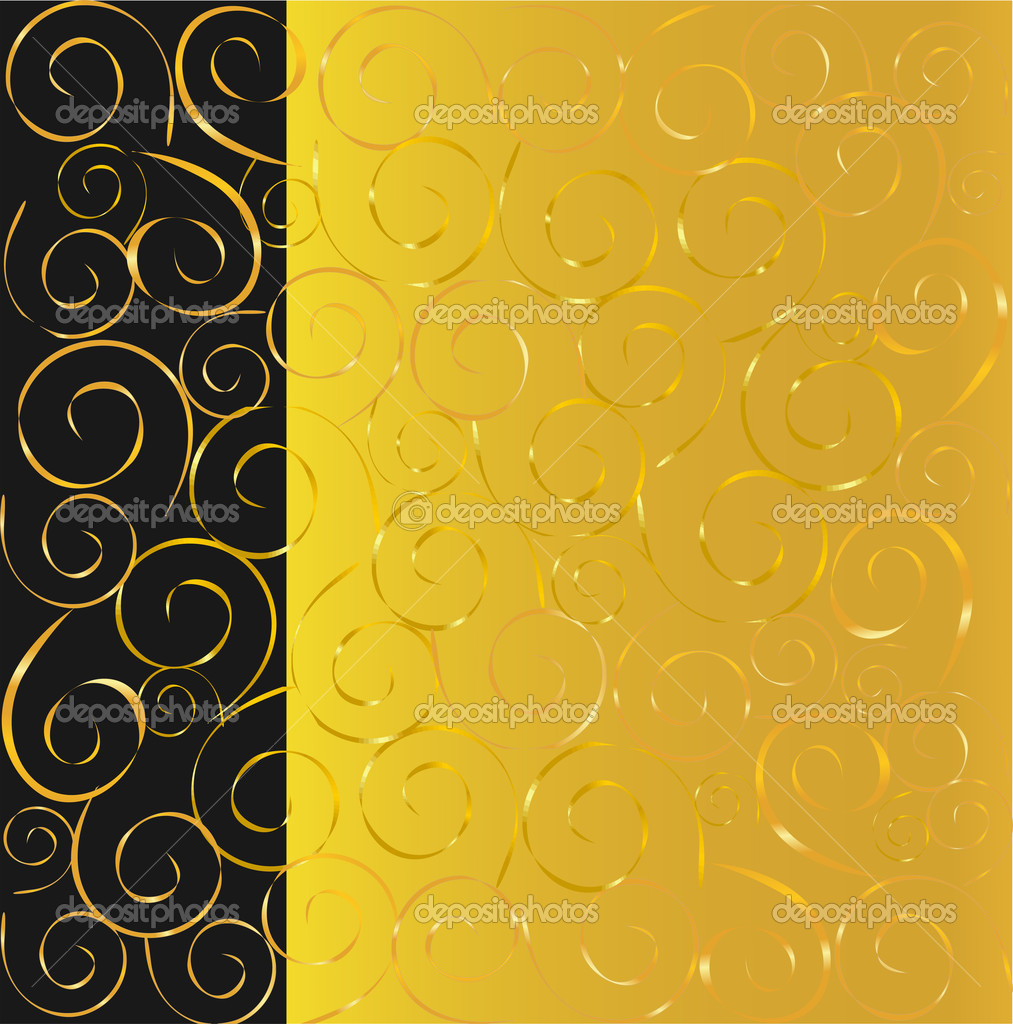 Elegant vector black and gold background  Vektorgrafik #1290511