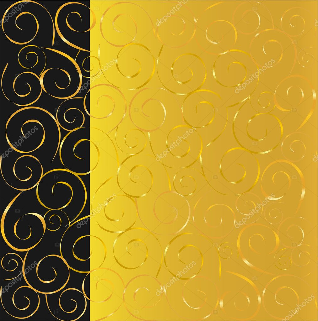 Elegant vector black and gold background — ベクター素材ストック #1290511