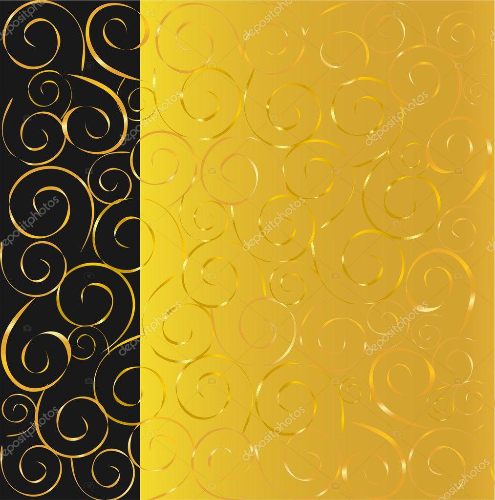elegantes schwarz und gold hintergrund stockvektor natalia vlasova 1290511. Black Bedroom Furniture Sets. Home Design Ideas