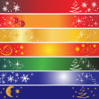 7 Christmas banners — Stock Vector #1377388