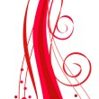 Royalty-Free Stock Vector Image: Spiral ornament in red