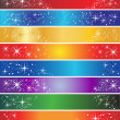 8 holiday banners — Stock Vector