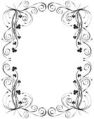 Floral frame for design, vector — Stock Vector