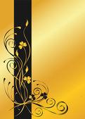 Golden floral background — Stock Vector