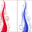 Royalty-Free Stock Vector Image: Red and blue spiral ornament