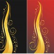 Royalty-Free Stock Vector Image: Black and red backgrounds with golden or