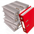 Gray and red folders — Stock Photo