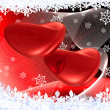 Two hearts on the red — Stock Photo